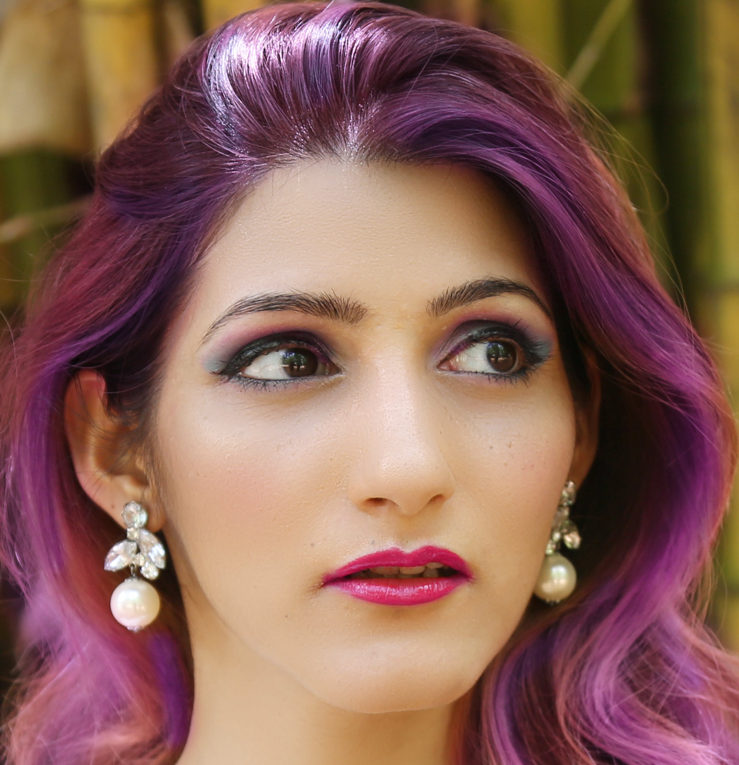 shilpa-ahuja-purple-hair-color-trend-latest-balayage-ideas-sexy
