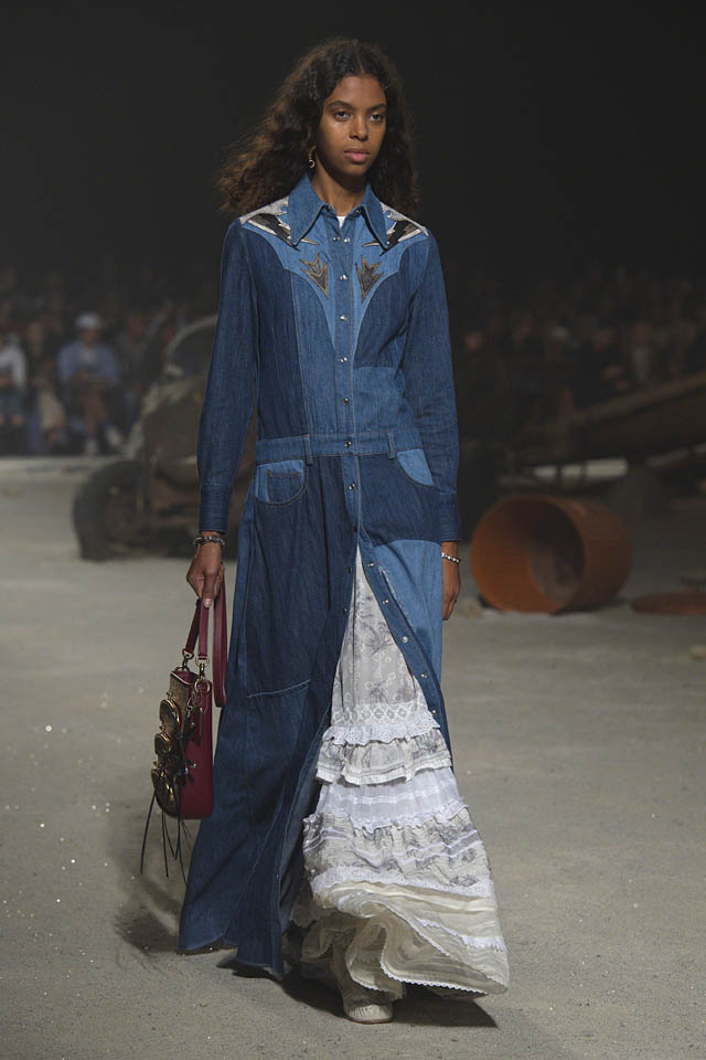 coach-spring-2019-ss19-fashion-show-nyfw-dresses (29) denim coat
