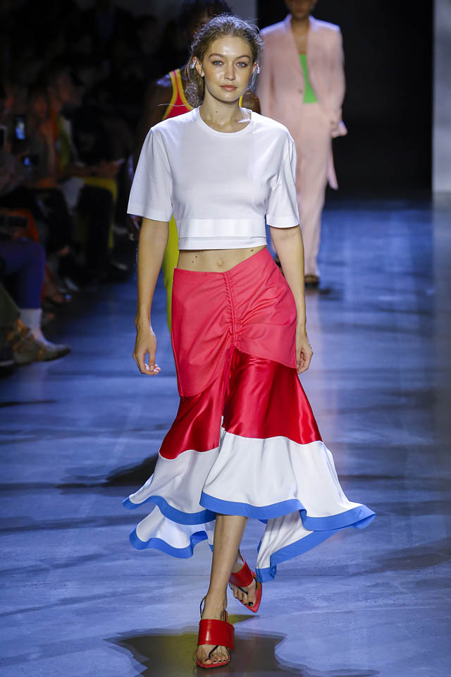 gigi hadid prabal gurung spring summer 2019 fashion latest skirt