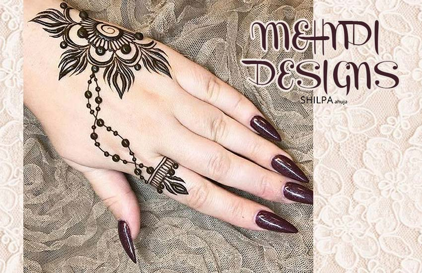 Mehndi Designs Of 2018 Bring A Chic Minimalism To India