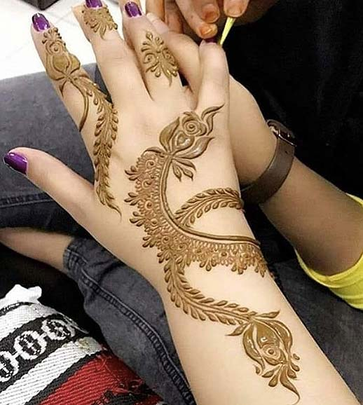 top-mehandi-designs-rose-pattern-flowers-latest-2018