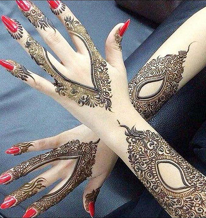 v-shaped-mehandi-designs-cut-out-latest-trends-2018