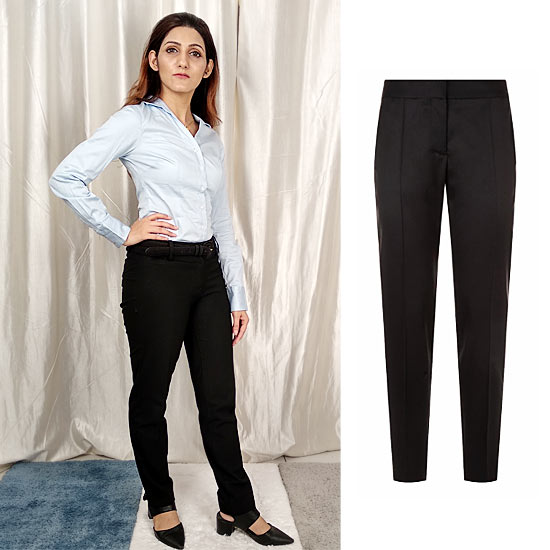 essential work wardrobe formal womens trousers black shilpa ahuja