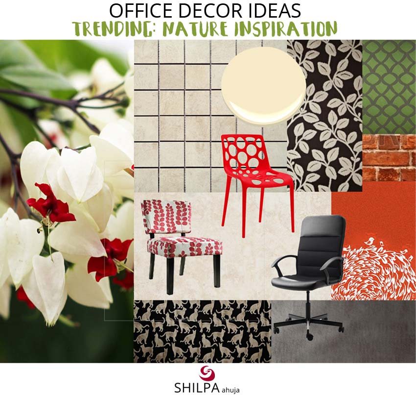 nature-inspired-millennial-workplaces-office-colors-interior-design Office Decor Ideas