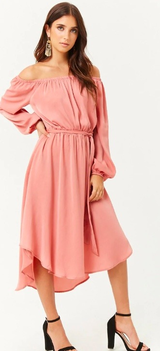 off the shoulder retro style dress