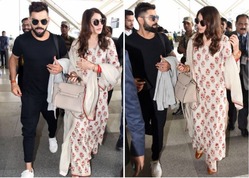 anushka sharma bollywood virat kohli airport-look outfit