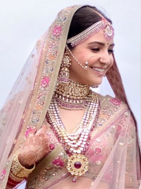 anushka sharma bollywood wedding jewelry makeup