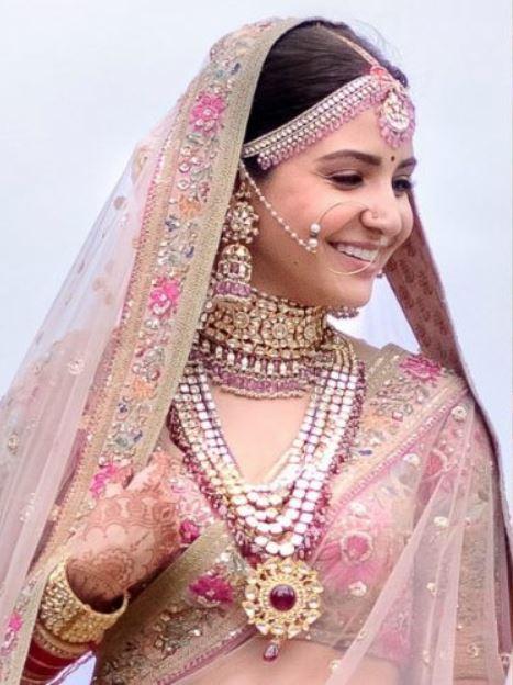 anushka sharma bollywood wedding jewelry makeup