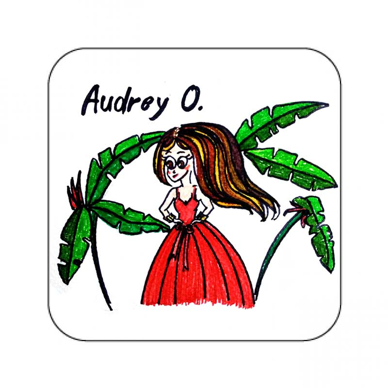 audrey o comic cartoon merchandise shilpa ahuja slubshop coaster 1