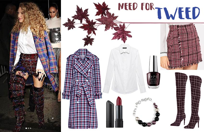 chic schoolgirl inspired fall outfit ideas plaid blake-lively