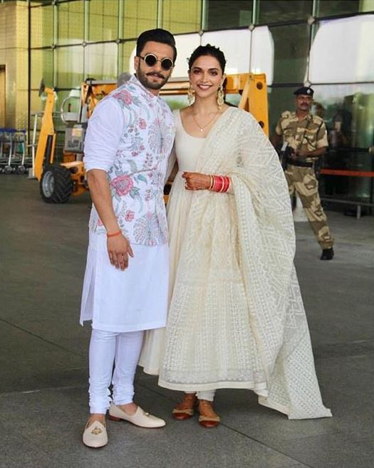 deepika padukone bollywood ranveer singh airport after wdding