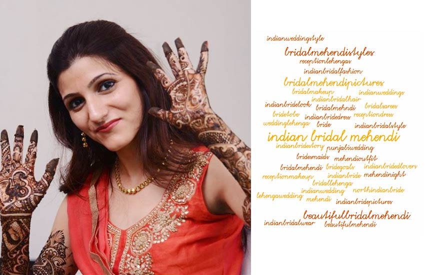 mehendi tags trending Indian Wedding Hashtags Mehndi Sangeet Reception