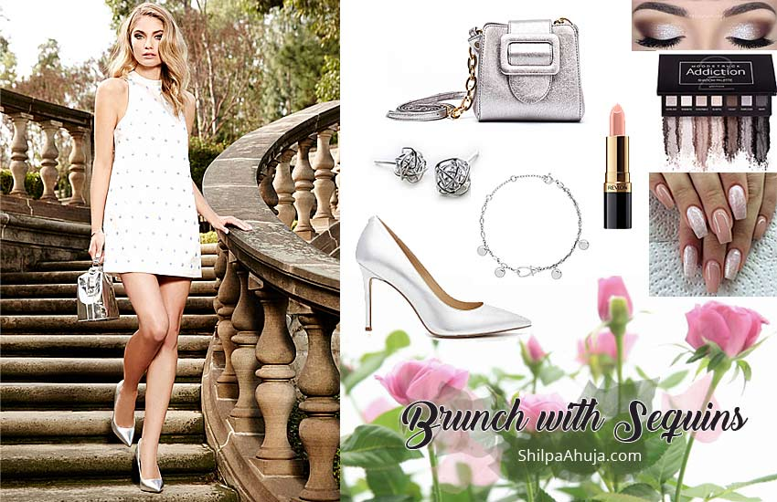 white-wear sequin dresses-how-to-wear-in-daytime-brunch-outfit-ideas-party-1