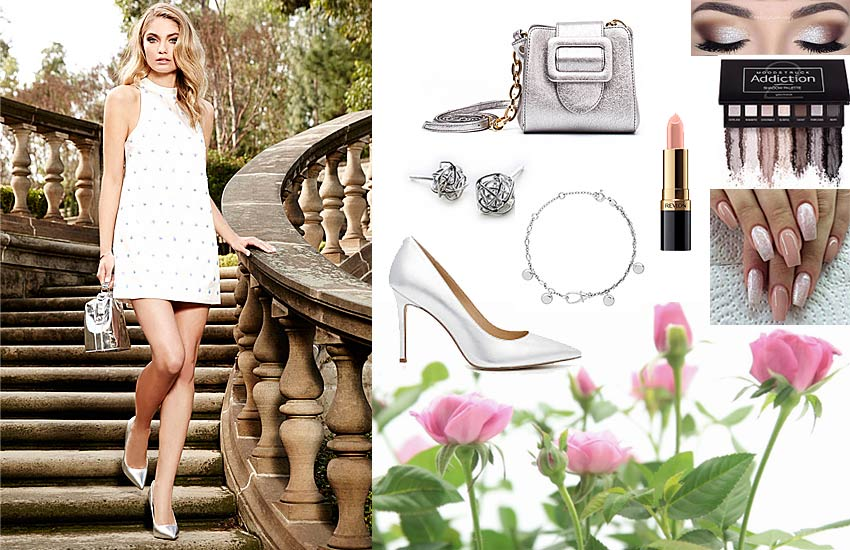 white sequin dress how to wear in daytime brunch outfit ideas party