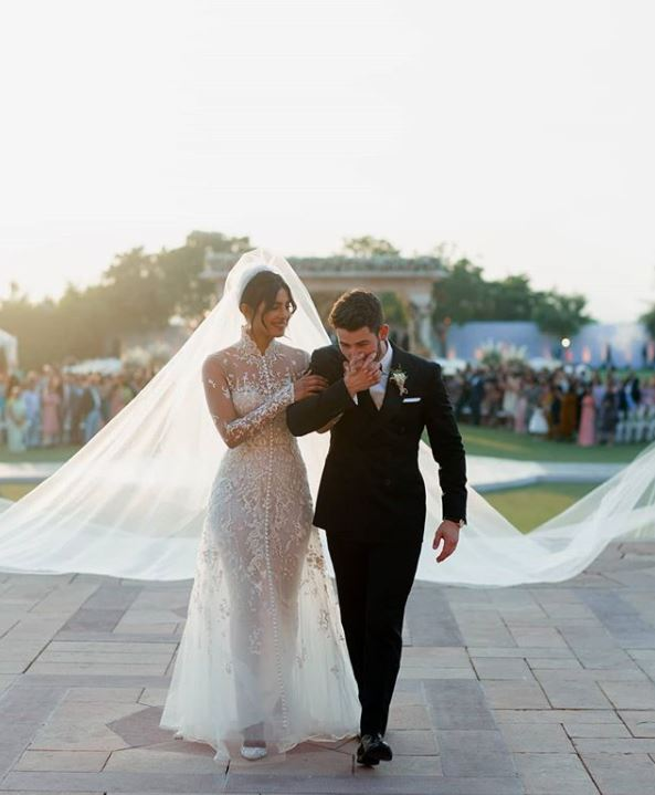 Priyanka Chopra nick Jonas nickyanka wedding pics dresses bollywood actress gown