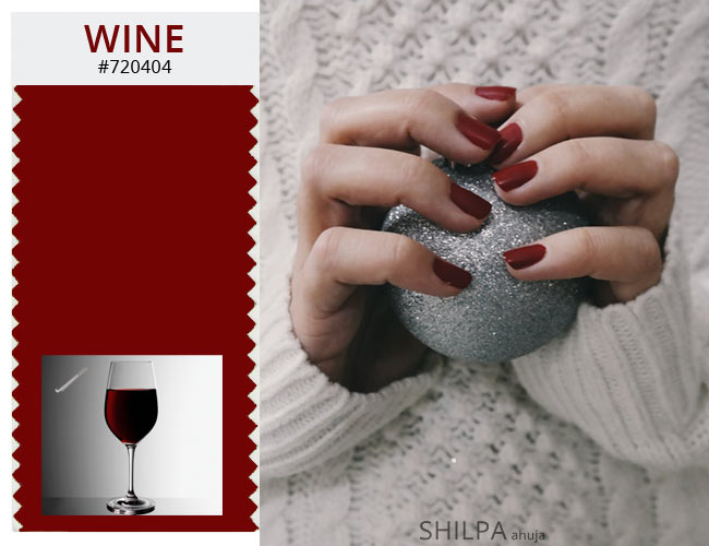 WINTER colors red shades dark nail polish trends WINE