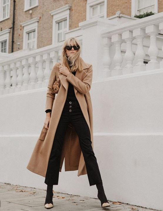 how to style winter outfits coats outerwear Camille Charriere-