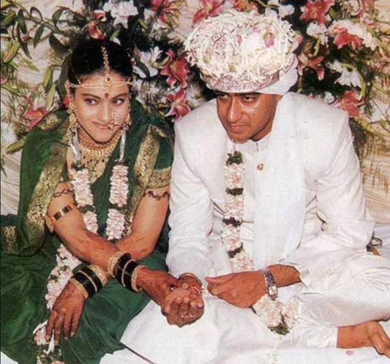 90s wedding dresses indian bollywood actresses kajol