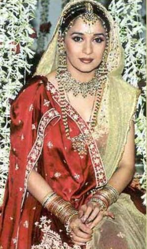 90s wedding dresses indian bollywood actresses madhuri dixit nene