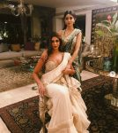 Abu Jani Latest Saree Trends 2019 Light Colors Shweta Bachchan
