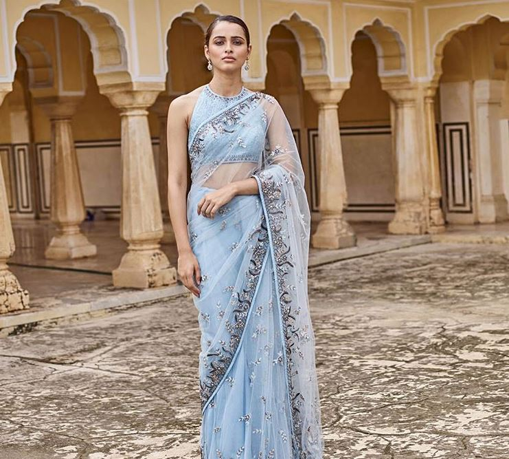 Anita Dongre Latest Saree Blouse Trends 2019 High Neck