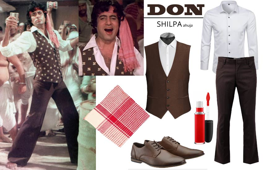 Bollywood Theme Party Outfits iconic amitabh male don