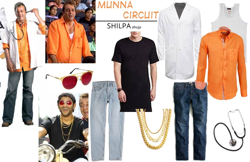 Bollywood Theme Party Outfits iconic costumes munna-bhai-circuit