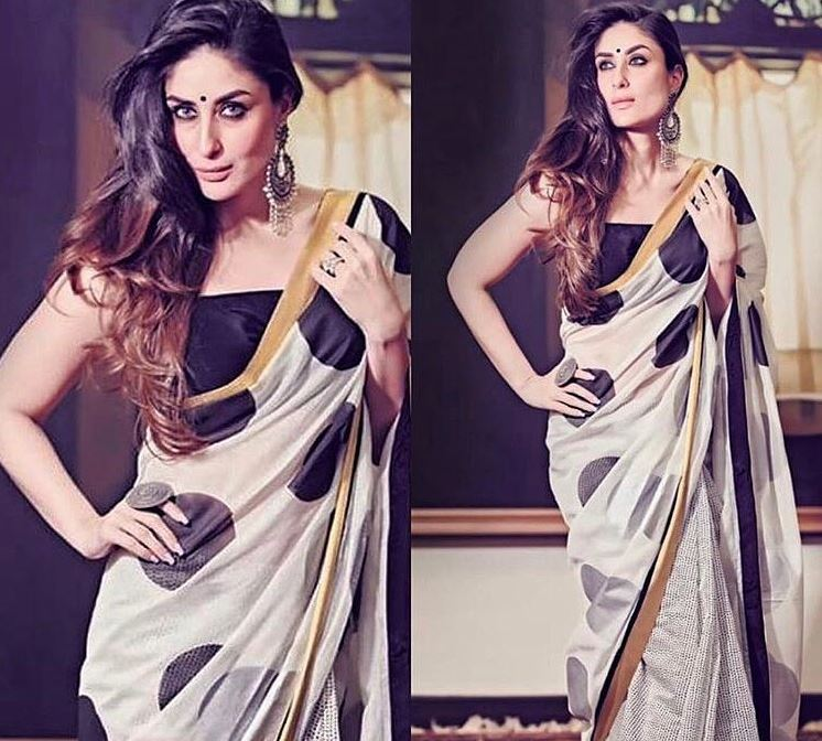 House of Masaba Top Saree Trends 2019 Thin Border Kareena Kapoor
