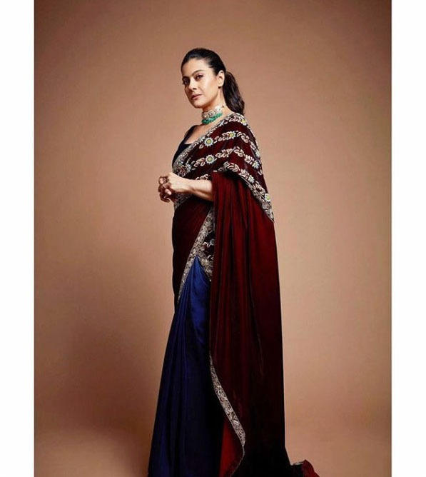 Manish Malhotra Best Saree Trends 2019 Velvet Palla Kajol