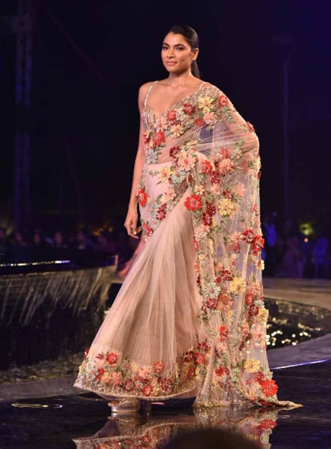 Manish Malhotra Top Saree Trends 2019 Jaali Sheer Applique Pink