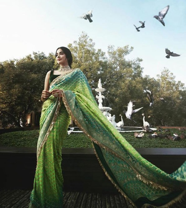 Manish MalhotraLatest Designer Sarees 2019 Diamond Pattern