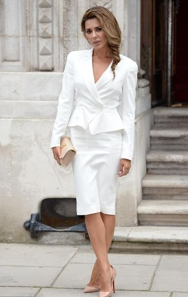 Melania Trump - womens blazer jackets - white pencil skirt - ladies suit 3