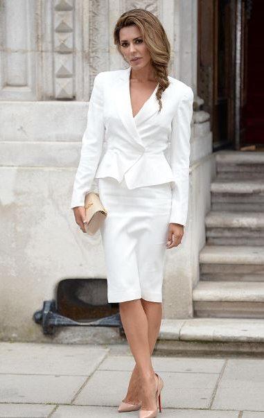 Melania Trump - womens blazer jackets - white pencil skirt - ladies suit 3
