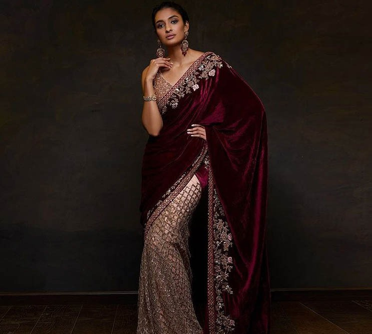Shyamal Bhumika Best Saree Trends 2019 Velvet
