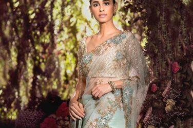 Shyamal Bhumika Top Saree Designs 2019 Embellished Net