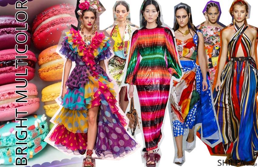 Spring Summer 2019 color trends fashion bright-multicolor