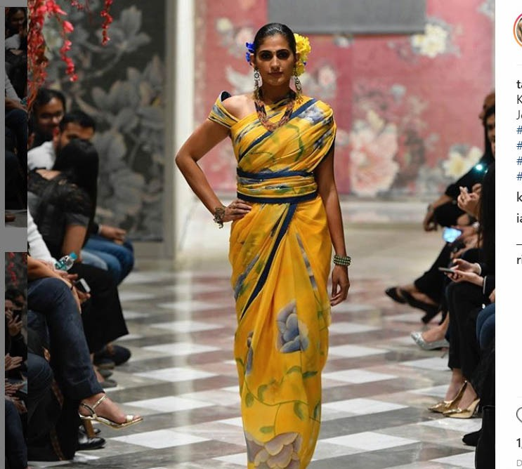 Tarun Tahiliani Latest Saree Trends 2019 Contemporary Prints