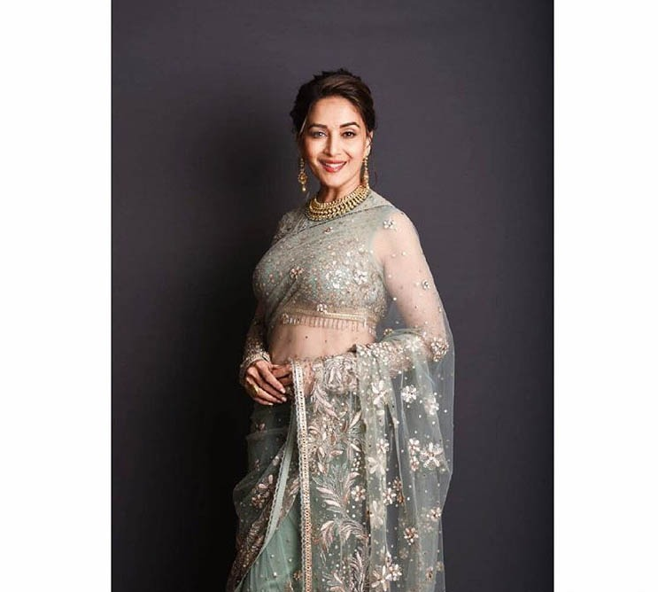 Tarun Tahiliani Top Saree Designs 2019 Embellished Net Madhuri Dixit
