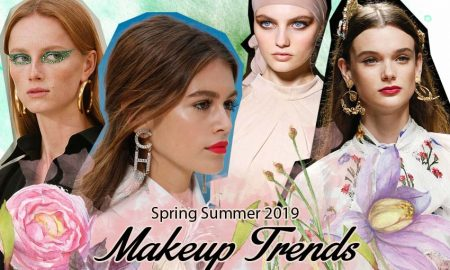 Top Spring 2019 Beauty Trends Trending runway makeup-looks SS19
