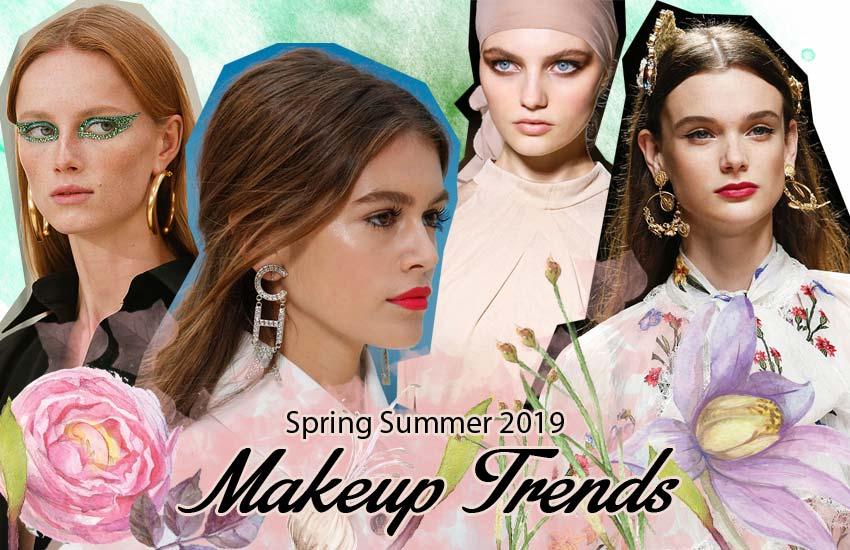 Top Spring 2019 Beauty Trends Trending runway makeup-looks SS19