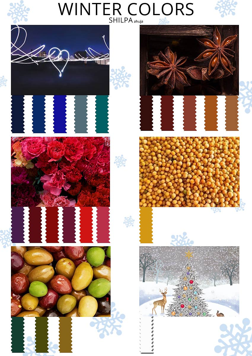 WINTER-COLOR-PALETTE seasonal colors shades trends basic