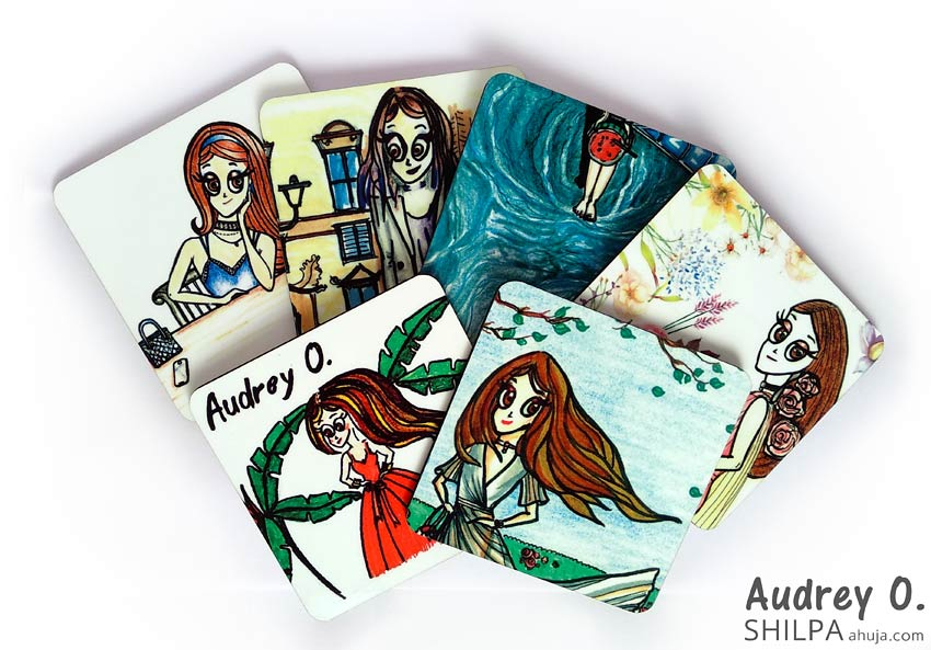 assorted tea coasters online set cartoon audrey o comics