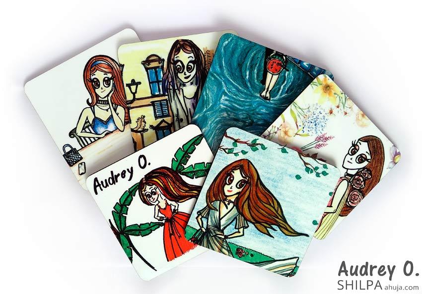 assorted tea coasters online set cartoon audrey o comics