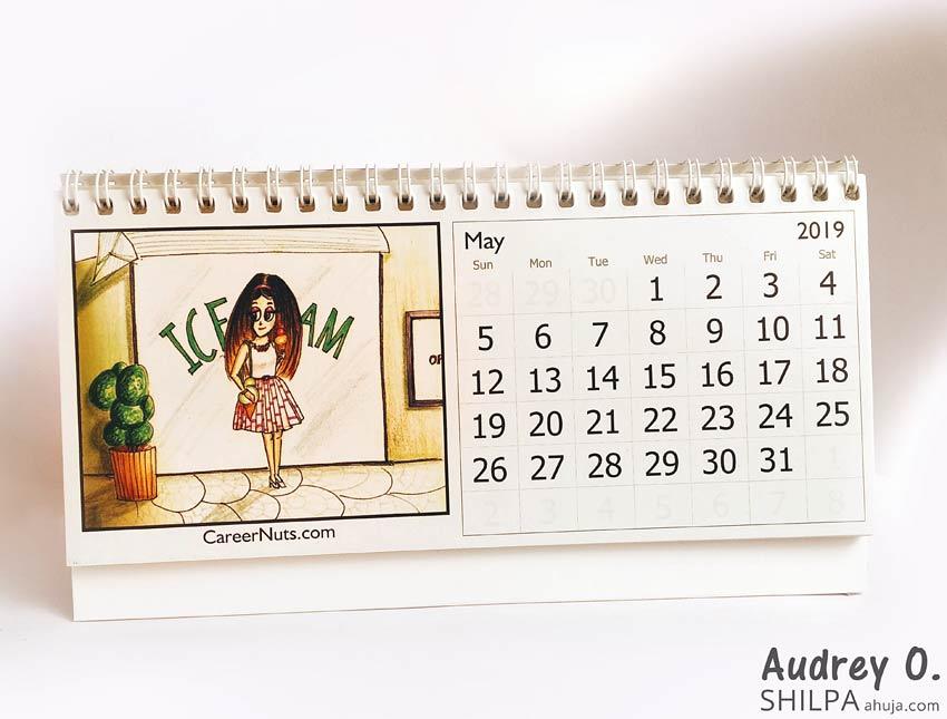 audrey o desk calendar designer online india cute funky