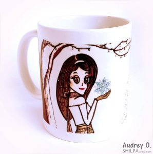 audrey o snow winter funky designer coffee mug online (2)