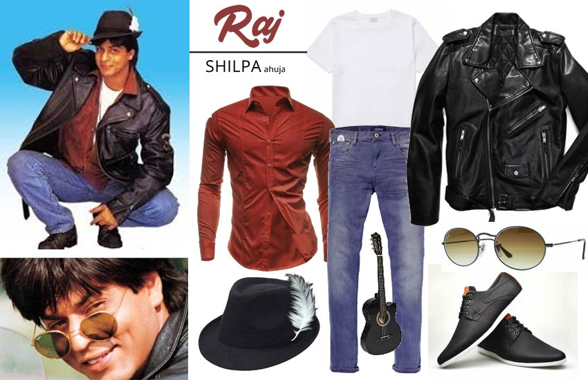 bollywood retro theme party dress male costumes ddlj-raj