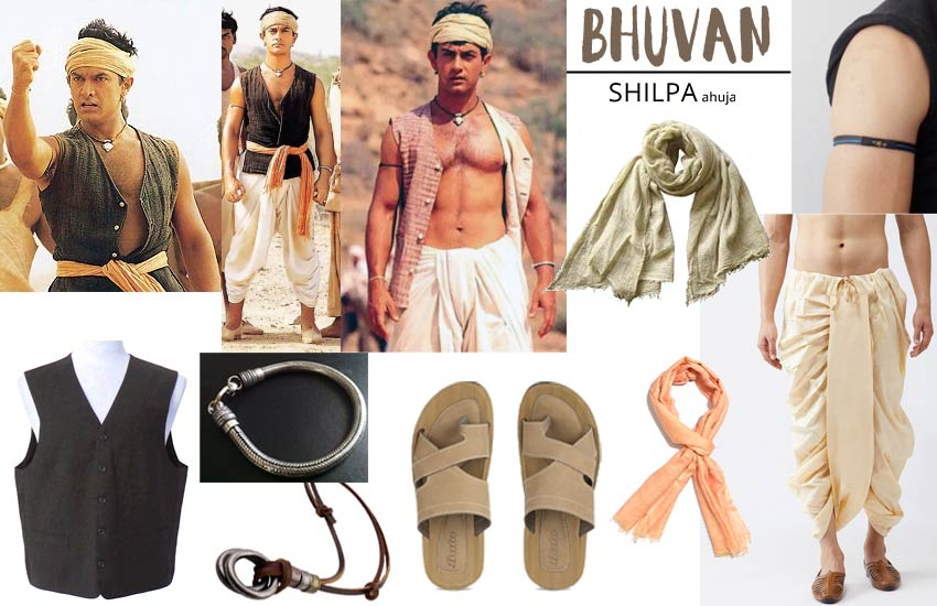 bollywood theme freshers party dress men lagaan