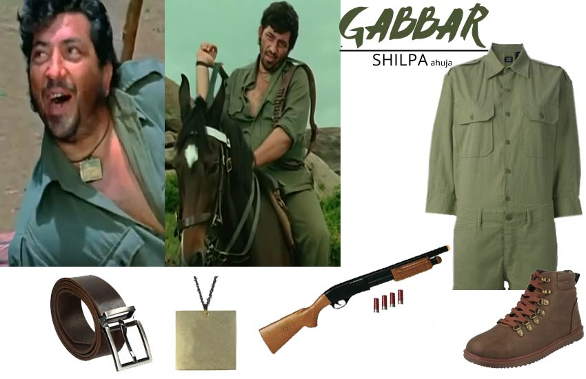 bollywood theme party dress ideas male sholay gabbar