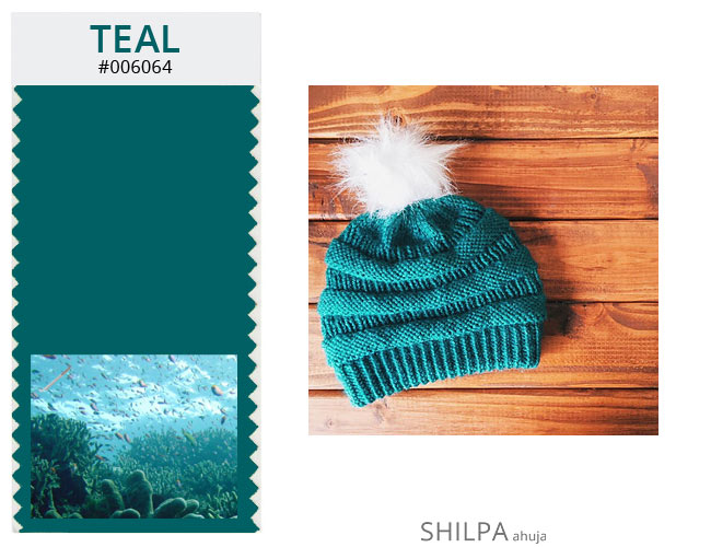 bright colors for winter TEAL hats accessories cute
