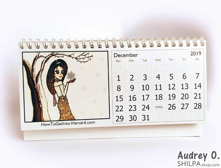 comic audrey o desk calendar designer online india style
